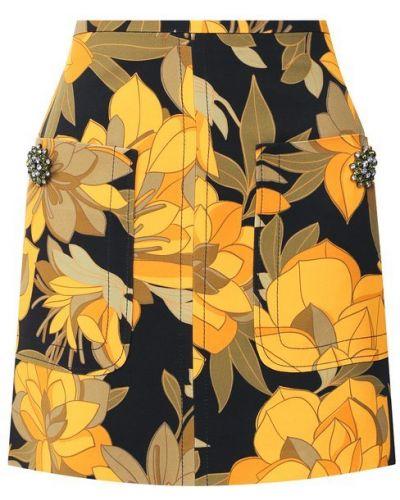 Юбка мини макси с цветочным принтом No. 21
