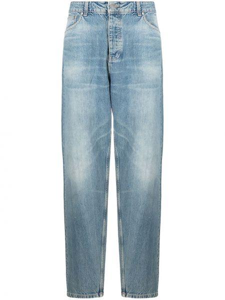 Bawełna niebieski bawełna klasyczny jeansy z kieszeniami Tom Wood