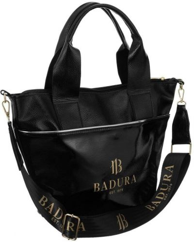 Czarna torebka duża skórzana elegancka Badura