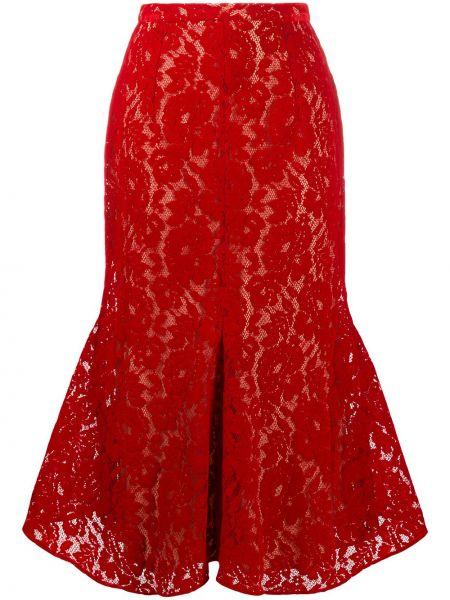 Włókienniczy ażurowy spódnica na sznurowadłach Christopher Kane