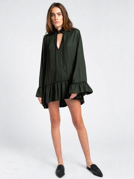 Платье из полиэстера - зеленое Oneteaspoon