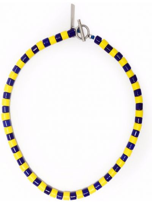 Naszyjnik srebrny - niebieski Karl Lagerfeld