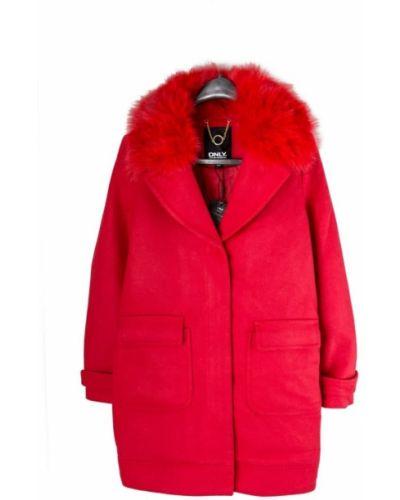 Пальто - красное Only