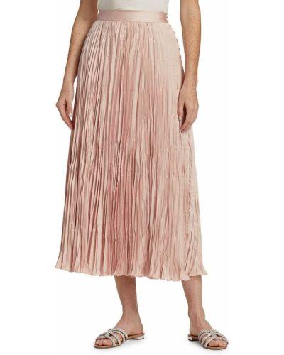 Розовая плиссированная юбка Rachel Comey