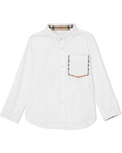 Рубашка с узором в клетку Burberry Kids