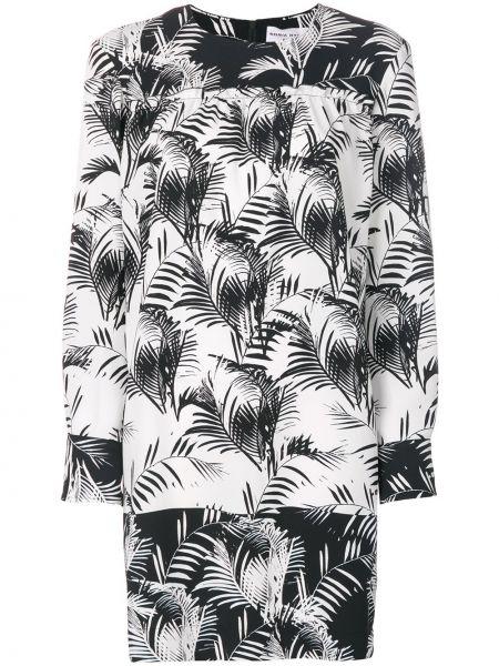 Платье с принтом - черное Sonia Rykiel