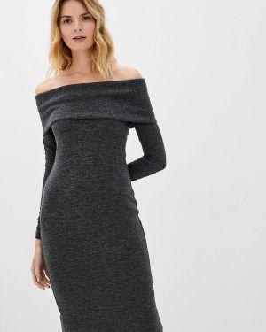 Платье серое вязаное мадам т