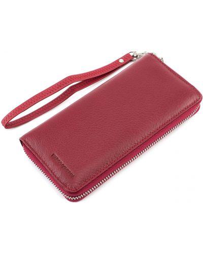 Кожаный кошелек - красный Marco Coverna