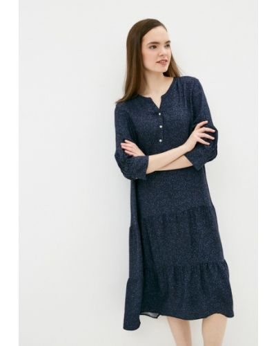 Прямое синее платье А-силуэта S.oliver