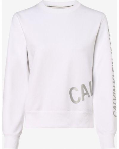 Biała bluza sportowa na co dzień Calvin Klein Jeans