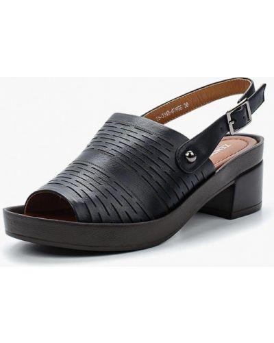 Синие босоножки на каблуке Zenden Woman