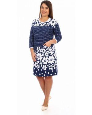 Платье синее махровое инсантрик