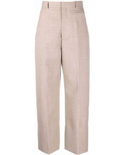Spodnie z wysokim stanem z paskiem - beżowe Jacquemus