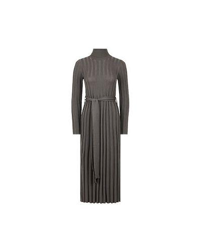 Шерстяное платье - серое Fedeli