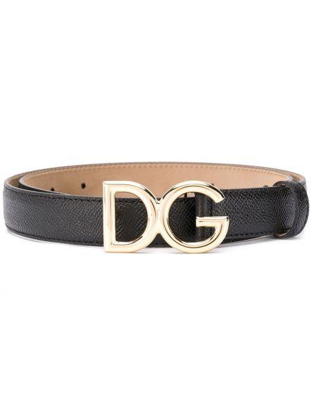 Черный ремень с пряжкой металлический Dolce & Gabbana