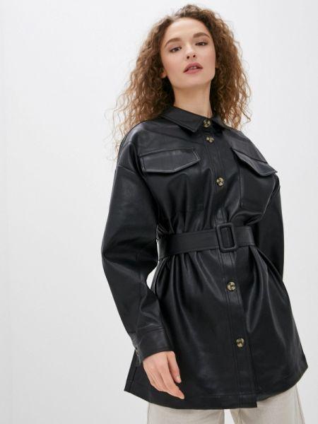 Кожаная куртка черная весенняя Sela