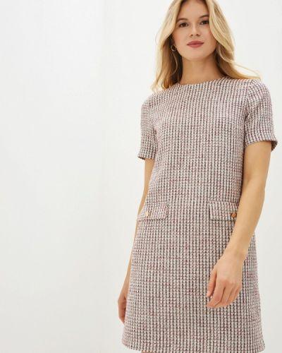 Платье бордовый прямое Vittoria Vicci