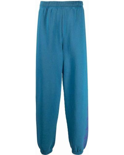 Спортивные брюки с завышенной талией - синие Aries