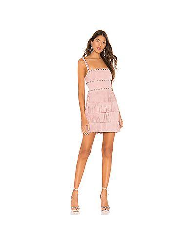 Платье розовое с бахромой X By Nbd