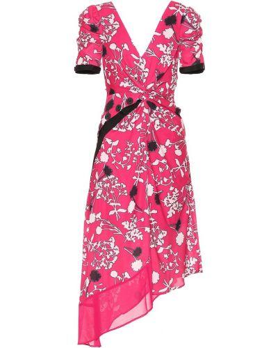 Платье миди с цветочным принтом Self-portrait