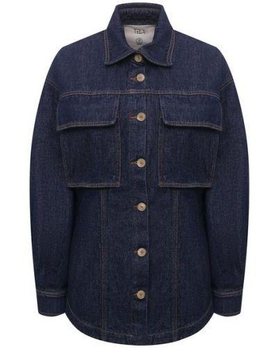 Джинсовая рубашка - синяя Tela