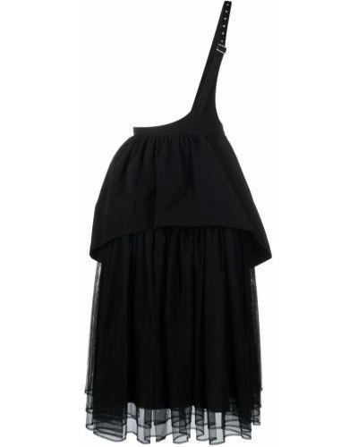 Юбка миди с завышенной талией - черная Comme Des Garçons Noir Kei Ninomiya