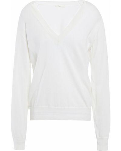Prążkowany biały sweter bawełniany Rag & Bone