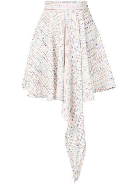 Белая с завышенной талией юбка на молнии из вискозы George Keburia