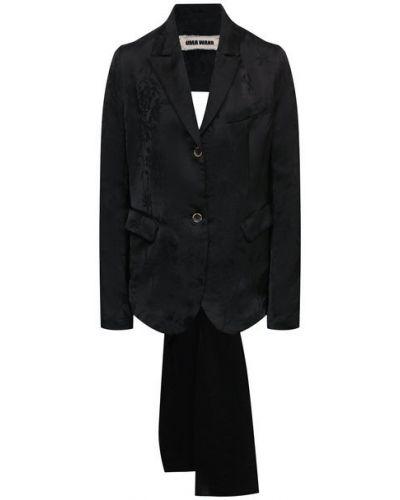 Льняной пиджак с декоративной отделкой Uma Wang