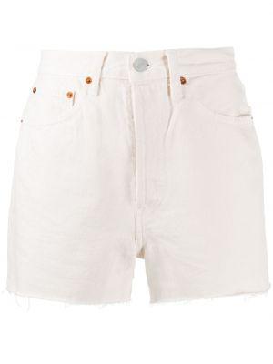 Хлопковые шорты - белые Re/done