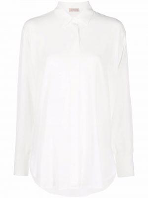 Biała koszula z jedwabiu Blanca Vita