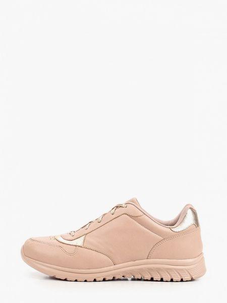 Розовые кроссовки из натуральной кожи Ekonika