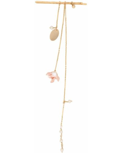 Czerwone złote klipsy perły Petite Grand