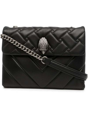 Czarna torebka na łańcuszku skórzana Kurt Geiger London
