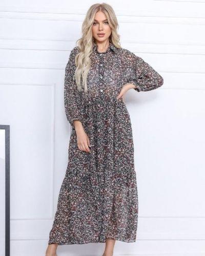 Шифоновое платье с подкладкой G&m