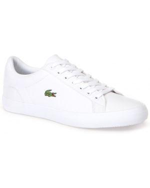 Кеды белые на шнуровке Lacoste