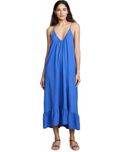 Ватное мягкое хлопковое платье макси 9seed
