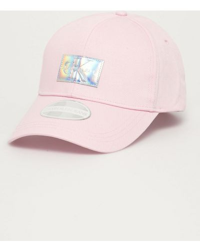 Różowy kapelusz bawełniany Calvin Klein Jeans