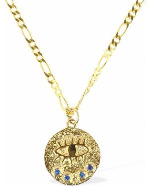 Złoty naszyjnik pozłacany z cyrkoniami Hermina Athens