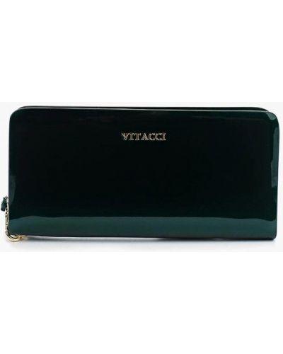 Зеленый кошелек лаковый Vitacci