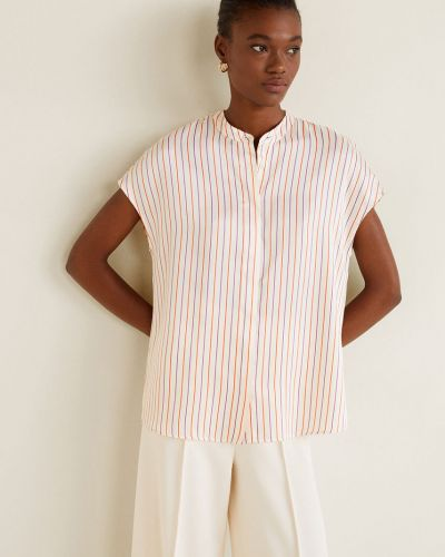 Блузка белая прямая Mango