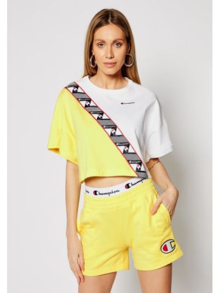T-shirt - żółta Champion