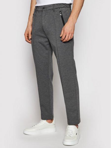 Szare spodnie materiałowe Calvin Klein