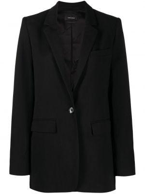 Однобортный черный пиджак для полных Isabel Marant