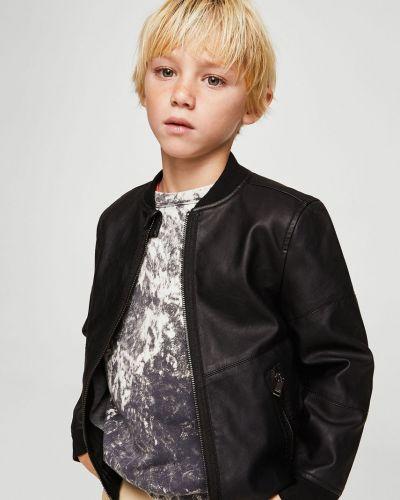 Куртка кожаная теплая Mango Kids