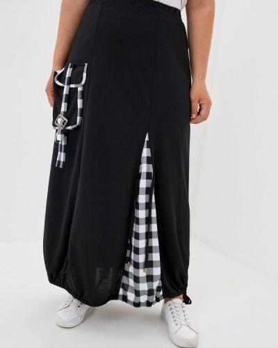 Черная юбка свободного кроя Prewoman