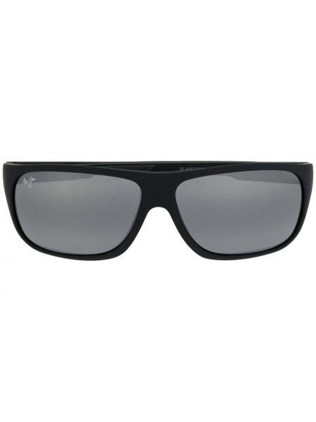 Солнцезащитные очки с логотипом - черные Maui Jim