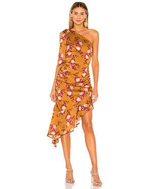 Платье миди на молнии со складками Majorelle