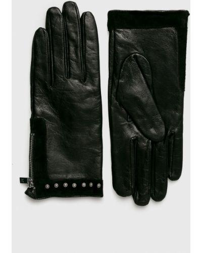 Черные кожаные перчатки Scotch & Soda
