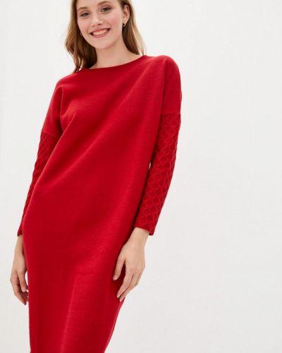 Красное вязаное платье Прованс